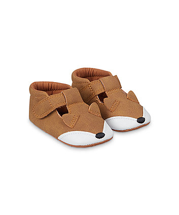 Mothercare Brown Fox Pram Shoes
