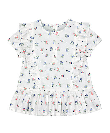 Mothercare Fashion Floral Frill Blouse