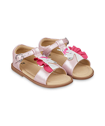 Mothercare Sparkly Pink Unicorn Sandals