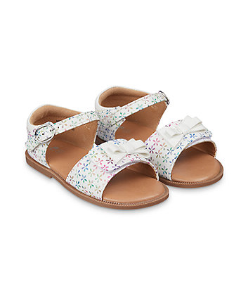 Mothercare White Multicolour-Flower Sandals