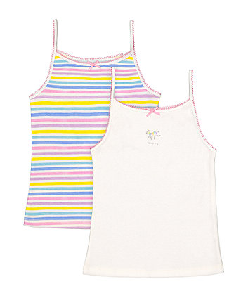 Mothercare Striped Cami Vests - 2 Pack