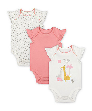Mothercare Into The Wild Bodysuits - 3 Pack