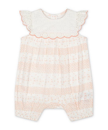Mothercare Broderie Lace Romper