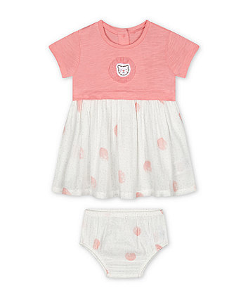 Mothercare Pink Spot Twofer Dress
