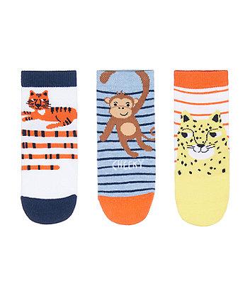 Mothercare Fashion Jungle Animals Socks - 3 Pack