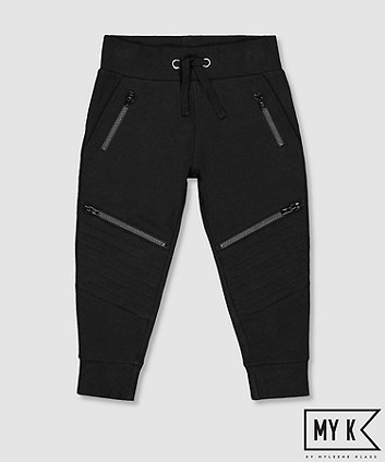 Mothercare Fashion My K Black Joggers With Knee Detail
