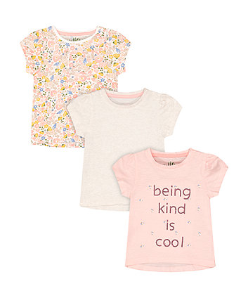 Mothercare Kind Is Cool T-Shirts - 3 Pack
