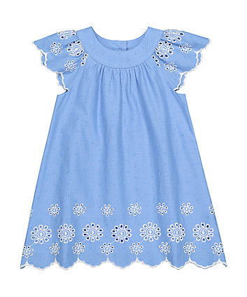 Mothercare Blue Dobby Dress