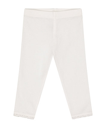 Mothercare Fashion White Leggings