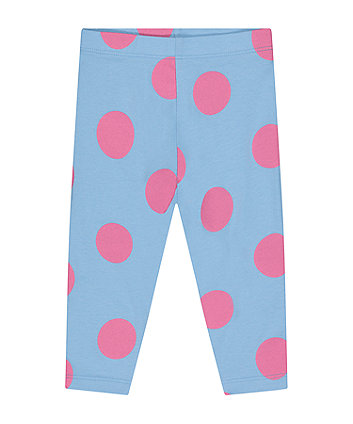 Mothercare Blue Spot Leggings