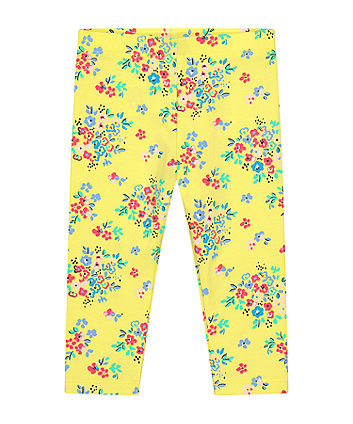 Mothercare Yellow Floral Leggings
