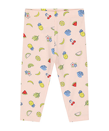 Mothercare Pink Fruit Leggings