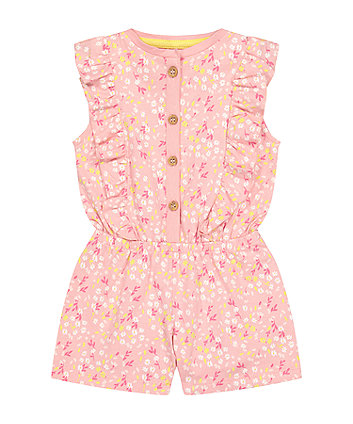 Mothercare Fashion Pink Floral Playsuit