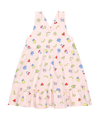 Mothercare Pink Fruit Tiered Dress