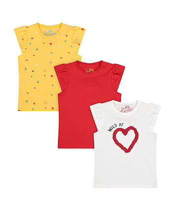 Mothercare Wild At Heart T-Shirts - 3 Pack