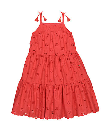 Mothercare Broderie Tiered Dress