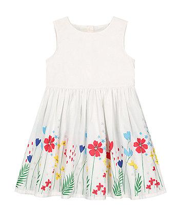 White Border Print Prom Dress [SS21]