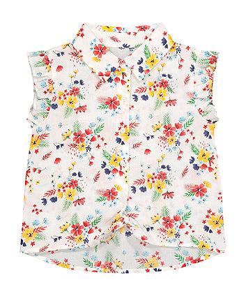 Floral Tie Front Blouse [SS21]