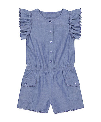 Mothercare Denim Playsuit