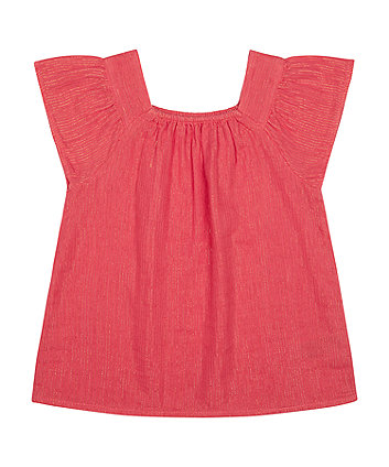Mothercare Pink Lurex Blouse