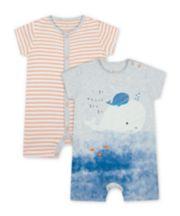 Mothercare Little Captain Rompers - 2 Pack