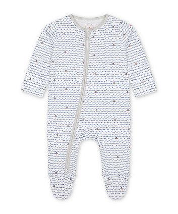 Mothercare Fashion Little Captain Sleepsuit