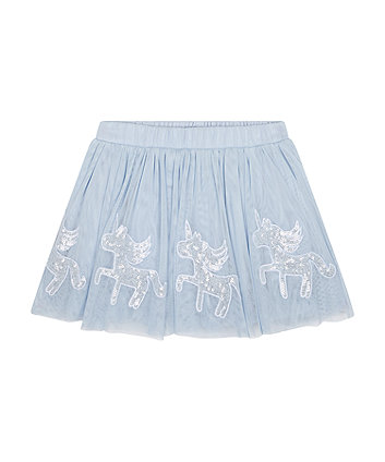 Mothercare Blue Unicorn Skirt