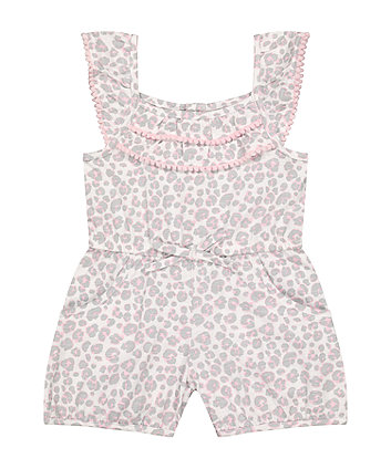 Mothercare Fashion Leopard-Print Playsuit