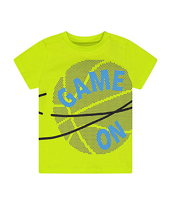 Mothercare Fashion Lime Game On T-Shirt