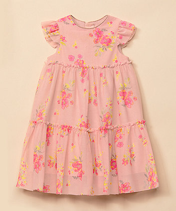 Pink Floral Tiered Occasion Dress [SS21]