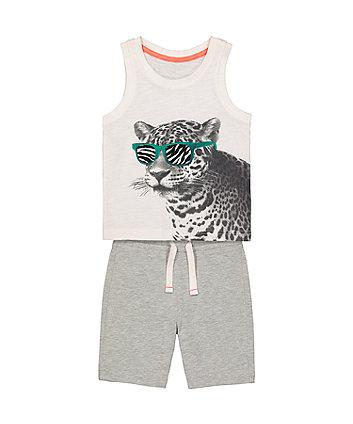 Leopard Vest And Shorts Set [SS21]