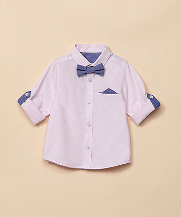 Pink Shirt And Bow Tie Set [SS21]