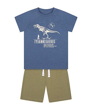 Mothercare Tyrannosaurus T-Shirt And Shorts Set
