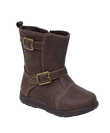 Mothercare First Walker Brown Buckle Boots