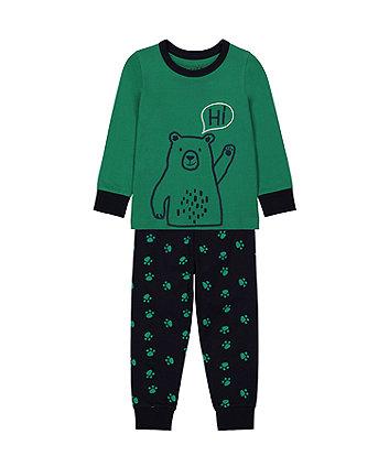 Mothecare Fashion Bear Said Hi Pyjamas