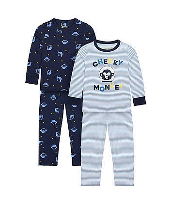 Mothecare Fashion Cheeky Monkey Pyjamas - 2 Pack