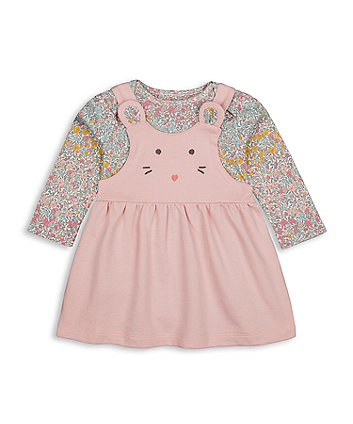 Mothecare Fashion Little Mouse Pinny Dress And Bodysuit Set
