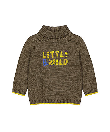 Mothecare Fashion Little And Wild Roll-Neck Knitted Jumper