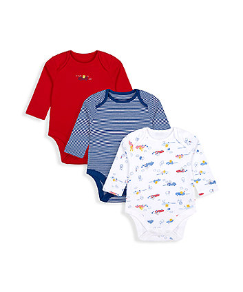 Mothercare Fashion Beep Beep Bodysuits - 3 Pack