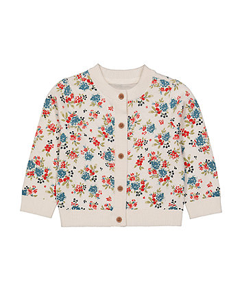 Mothecare Fashion Floral Knitted Cardigan