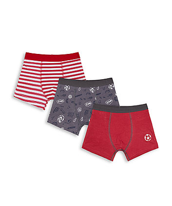 Mothercare Fashion Football Trunk Briefs - 3 Pack
