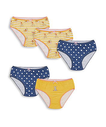 Mothercare Fashion Little Bunny Briefs - 5 Pack
