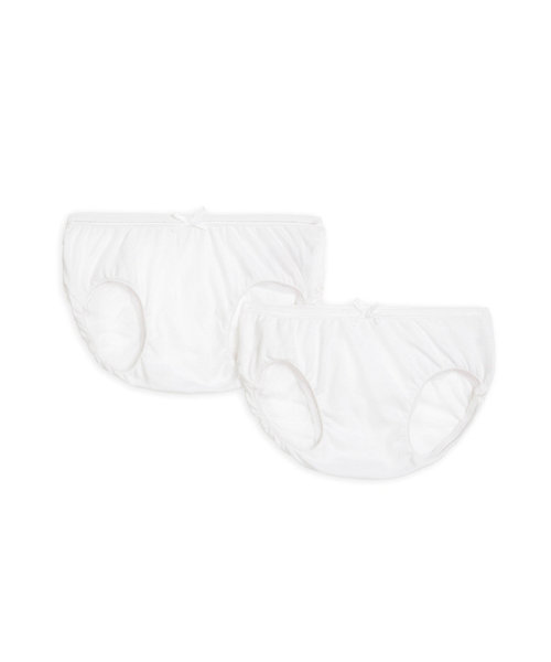 White Frilly Nappy Cover Briefs - 2 Pack