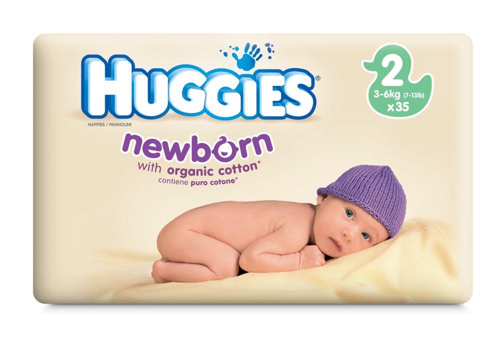 Huggies&reg Newborn nappies Size 2  40pk