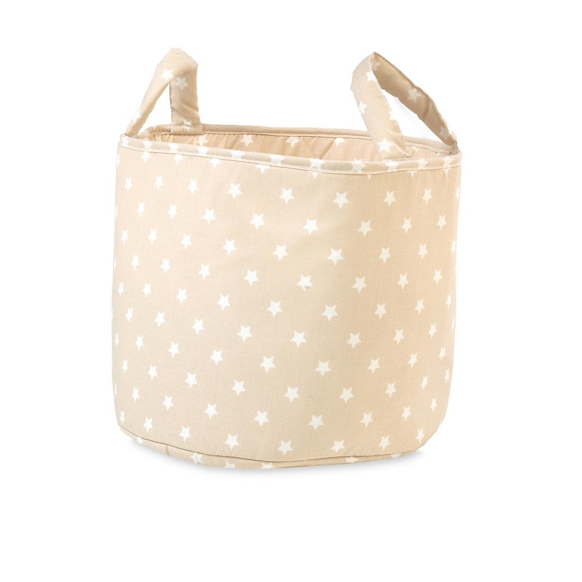 Mothercare Fabric Storage Basket- Beige Stars