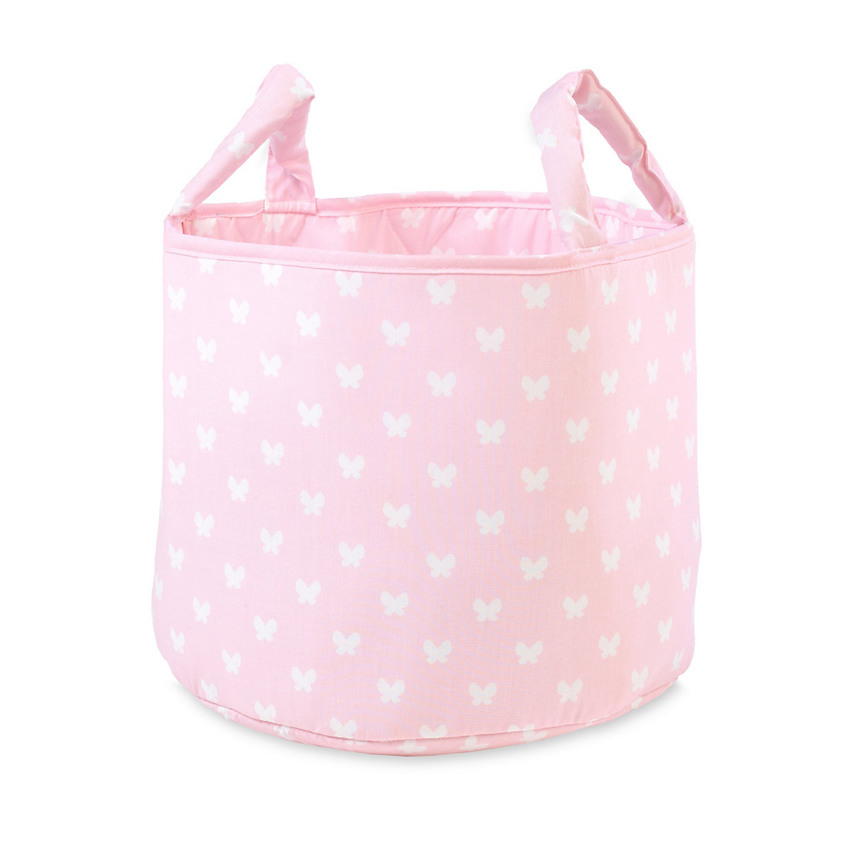 Mothercare Fabric Storage Basket- Pink Butterflies