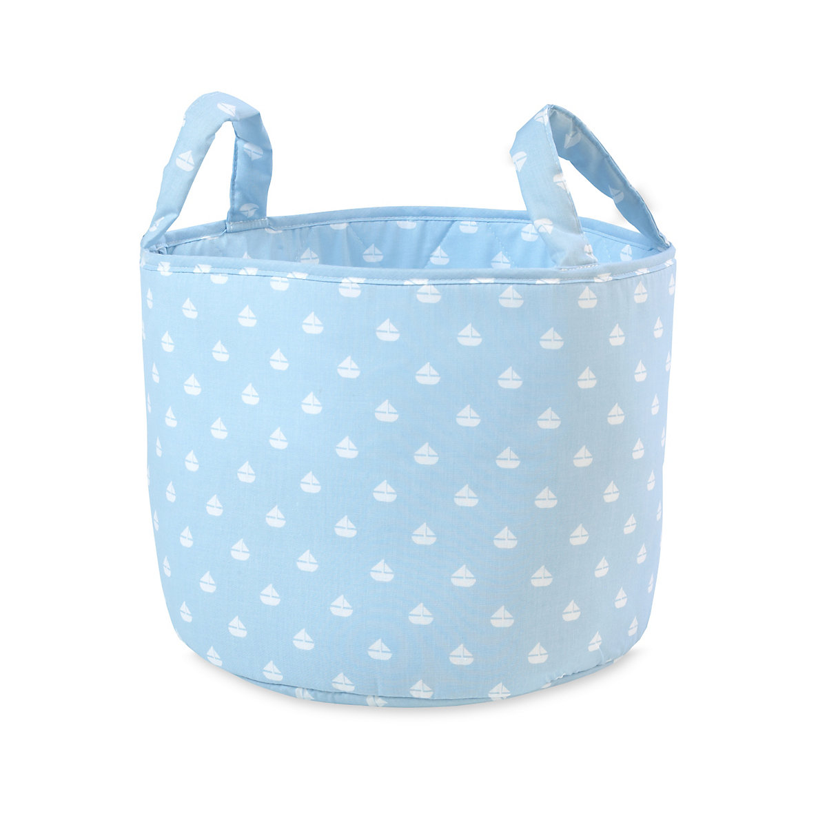 Mothercare Fabric Storage Basket- Blue Boats