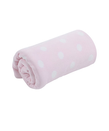 Mothercare Moses Basket or Crib Fleece Blanket - Pink