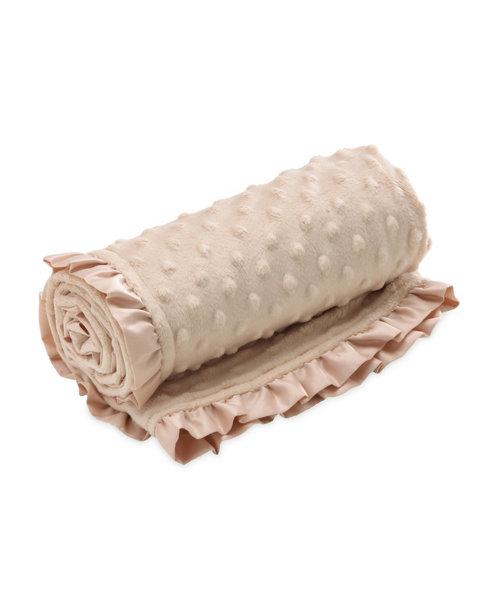 Mothercare Velboa Fleece Popcorn Blanket - Beige