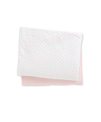 Cotton Fitted Moses Basket Sheets-  Pink 2 Pack